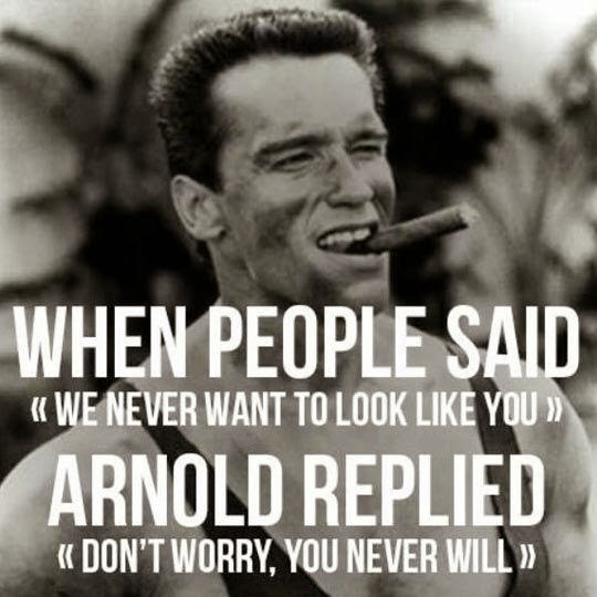 Arnold did his fair share of strength training