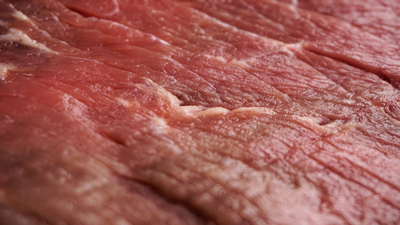 raw juicy steak